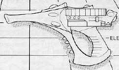 Pistola Shuriken Arlequines Rogue Trader