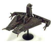 Nave Comercial Demiurgo clase Fortaleza Imperio T'au Battlefleet Gothic miniatura