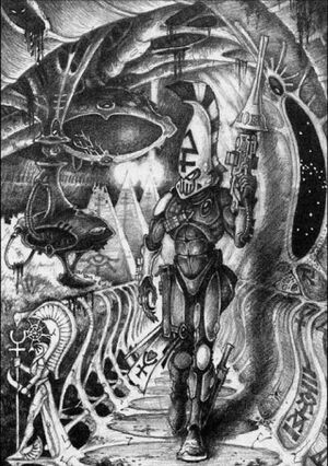 Vengador Implacable Eldar 2ª Edición Mark Gibbons ilustración