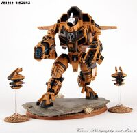 XV109 Y'vahra T'au Forge World miniatura