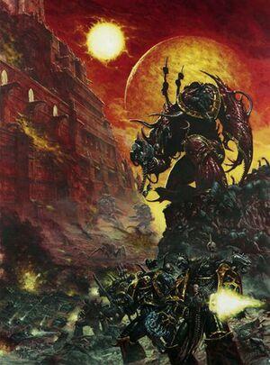 Príncipe Demonio Legión Negra Caos 3ª Edición Karl Kopinski ilustración Wikihammer