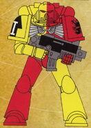 Grifos Aullantes Tactico Servoarmadura Mark VII Aquila Marines Espaciales Astartes Wikihammer