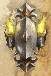 Armas ordo xenos escudo de plata