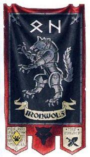 Estandarte Egil Lobo de Hierro Lobos Espaciales Marines Espaciales Wikihammer