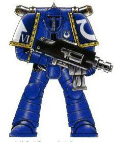 Servoarmadura Mk2 Cruzado Marines Espaciales Wikihammer