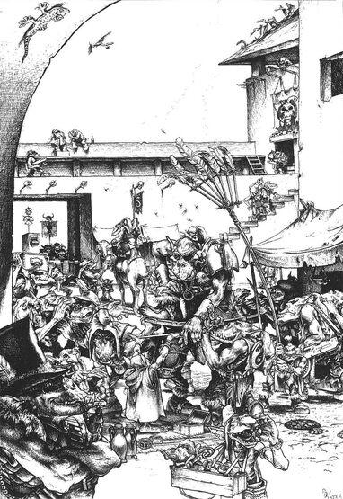 Ziudad Orkos por Paul Bonner