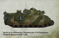 Guardia Imperial tanque superpesado stormlord cadia