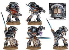 Caballeros grises escuadra miniaturas