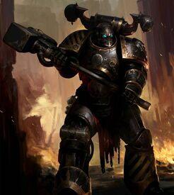 Caos guerreros de hierro martillo de combate