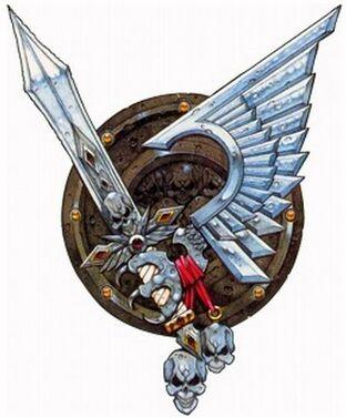 Logo marines ala de cuervo
