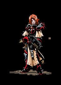 Sororita hermana de batalla bolter orden desconocida