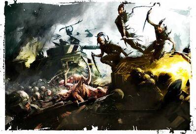 Eldars oscuros brujas y cabalitas vs gi