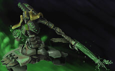 Fanart Lider Destructor Necron Apoyo Pesado Wikihammer