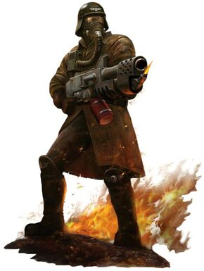 Guardia imperial legion acero armageddon lanzallamas