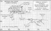 Armas Templo Eversor Pistola Ejecutora Neuroguantelete