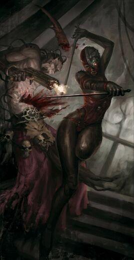Imperio asesina culto a la muerte vs cultista caos