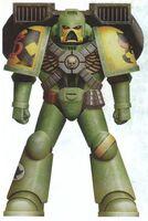 Guerreros Mantis Azhira Asalto Servoarmadura Mark VII Aquila Marines Espaciales Astartes Wikihammer