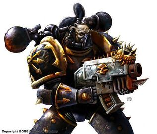 Caos legion negra marine del caos