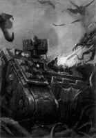 Land Raider Cruzado Caballeros Grises 5ª Edición ilustración