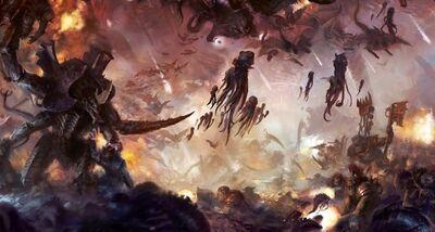 Orkos vs tiranidos guerra por octarius