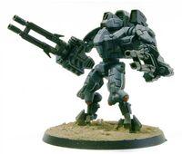 XV9-04 Amenaza cañones iónicos fásicos T'au Forge World miniatura