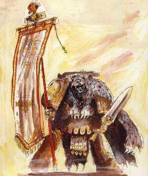 Portaestandarte Guerreros Trueno Estandarte Legion V Emperador Wikihammer
