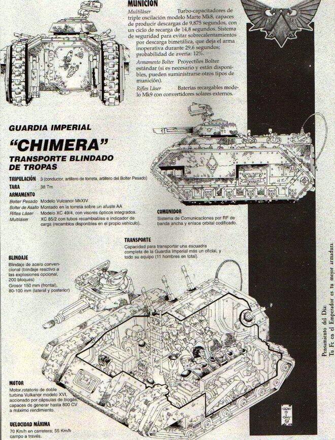 Esquema Chimera Wikihammer 40K