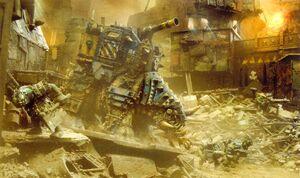 Garrapato Mamut Kráneo de Muerte Kastorel-Novem Orkos FW diorama