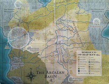 Mapa Sorocco Mundo de Rynn