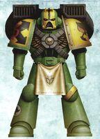 Guerreros Mantis Hermano Kedar Servoarmadura Mark VII Aquila Asalto Marines Espaciales Astartes Wikihammer