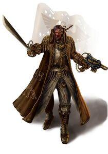 Imperio comerciante independiente espada pistola laser