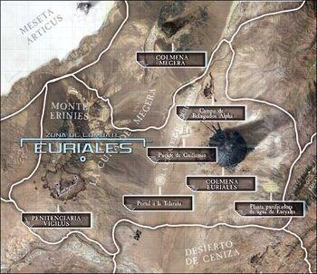 Mapa Euriales planeta medusa V wikihammer