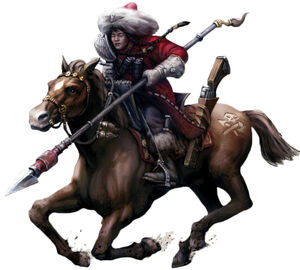 Rough Rider Attilano con Lanza de Caza