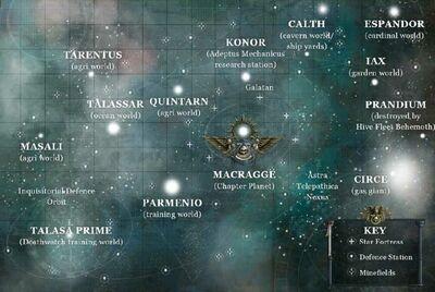 Mapa sistema ultramar