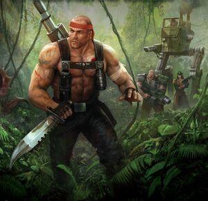 Soldados de catachan en la jungla