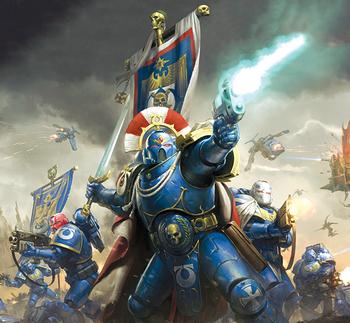 Cato Sicarius Ultramarines vs Eldars Oscuros Portada Warhammer 40,000 Conquest