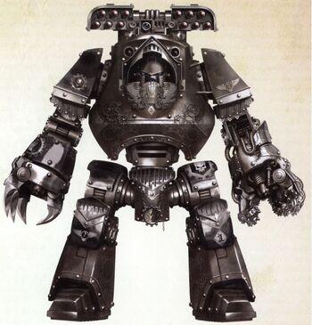 Morn Dreadnought Contemptor Clan Avernii Legión Manos de Hierro