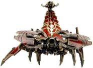Caos escorpion de bronce frontal