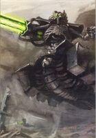 Destructor Necron Cañon Gauss Wikihammer