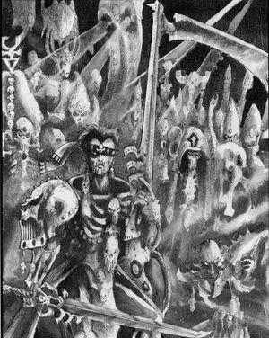Segadores Siniestros Eldars 2ª Edición John Blanche ilustración