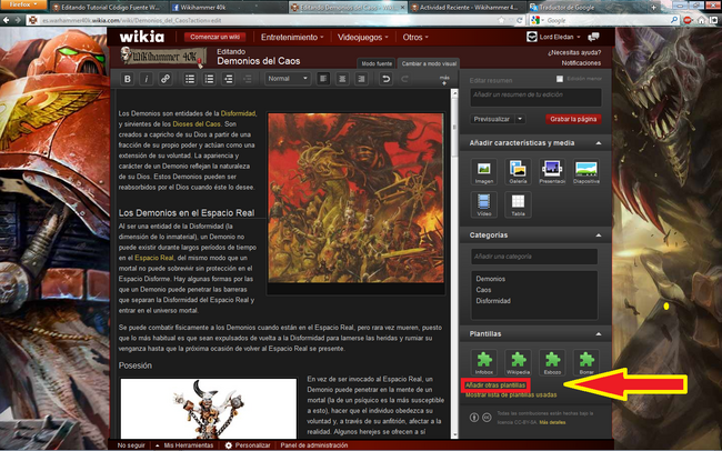 Tutorial Plantillas Wikia 1