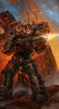 Caos Marine espacial del Caos legion negra