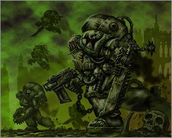 Caos deathguard escuadra de asalto