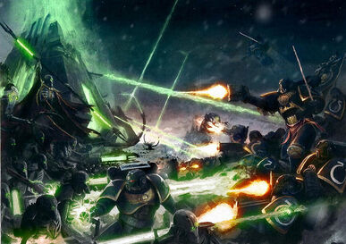 Caida de Damnos Guerreros Necrones Ultramarines Marines Espaciales Armas Gauss Ejercito Necron Wikihammer