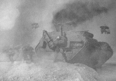 Tanque Imperial destruido por Equipo Mimético XV15 Sombra Campaña de Taros