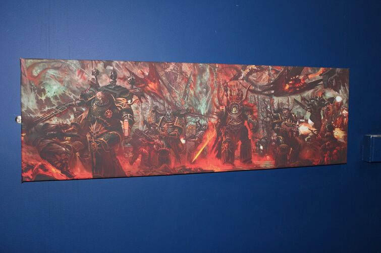 Warhammer World Nottingham Wikihammer mural dibujo caos 6ª edición