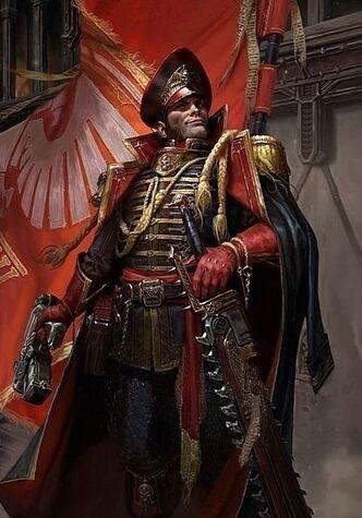 Guardia imperial comisario ciaphas cain retrato