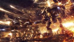 Titanes Warlord Reaver Warhound y Ultramarines en Calth