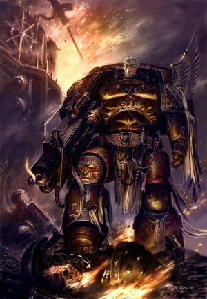 Capitan Tycho Angeles Sangrientos wikihammer 40k