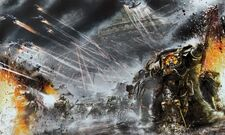 Hijos de Horus Lupercal Espíritu Vengativo Desembarco Batalla de Molech Wikihammer 40k
